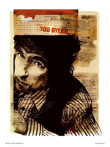 Bob Dylan Poster Pop Art Print by Wig (OTW047) - On the Wall Art Print Posters & Gifts