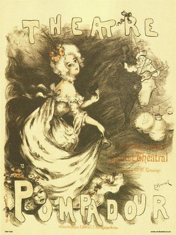 Art nouveau Poster Art Print by Barcet - Theatre Pompadour (PDP 038) - On the Wall Art Print Posters & Gifts