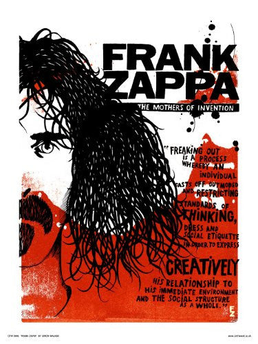 Frank Zappa Poster Art Print by Simon Walker (OTW041) - On the Wall Art Print Posters & Gifts