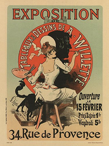 Art nouveau Poster Art Print by Jules Cheret Exposition - On the Wall Art Print Posters & Gifts