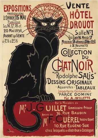 Chat Noir Art Poster Print by Théophile-Alexandre Steinlen 1898 (OTW 0035) - On the Wall Art Print Posters & Gifts