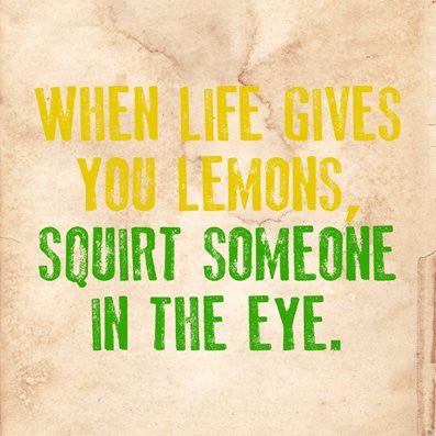 Lemons Proverb Letter Press Greetings card (Blank Inside) - On the Wall Art Print Posters & Gifts