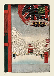 Kinryuzan Temple Hiroshige 70x50cm Art Print - On the Wall Art Print Posters & Gifts