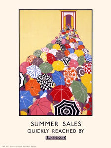 London Underground Summer sales Vintage Railway Poster PDP31 - On the Wall Art Print Posters & Gifts
