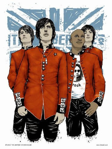 The Libertines, (Pete Doherty, Carl Barât,) Poster art Print by Simon Walker (40x30cm) (OTW010) - On the Wall Art Print Posters & Gifts