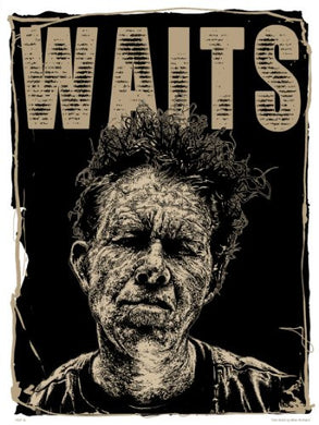 Tom Waits Poster Art Print by Mike Winnard (PDP0034) - On the Wall Art Print Posters & Gifts
