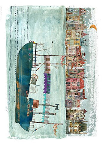 River Boat 70x50cm Art Print Maria Brzozowska - On the Wall Art Print Posters & Gifts