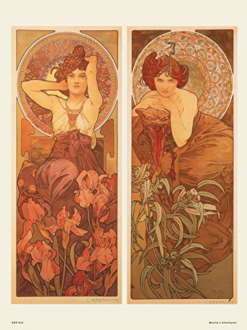 Art nouveau Poster Art Print by Muchal' Amethyste - On the Wall Art Print Posters & Gifts