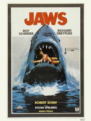 Jaws Poster Art Print (MSP007) - On the Wall Art Print Posters & Gifts