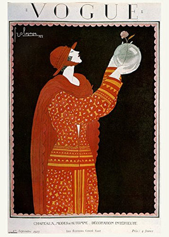 Vintage Vogue Cover September 1923 Poster Art Print - On the Wall Art Print Posters & Gifts