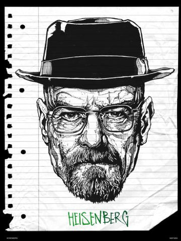 Breaking Bad HEISENBERG Art Print Poster by Mike Winnard (MSP0050) - On the Wall Art Print Posters & Gifts