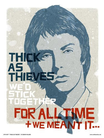 PAUL WELLER - THE JAM - Poster print By Simon Walker (077) - On the Wall Art Print Posters & Gifts