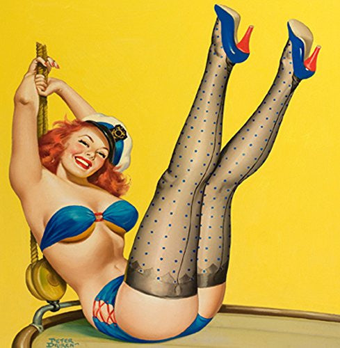 Hello Sailor Pin up 14x14cm Greetings Card