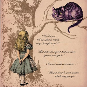Alice in Wonderland Then it doesnt really Matter Greetings Card 14x14cm - On the Wall Art Print Posters & Gifts