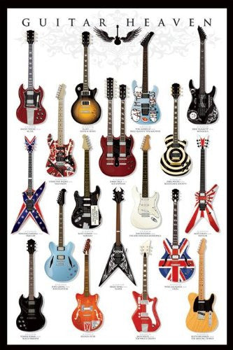 Guitar heaven Regular Poster (61x91.5cm) - On the Wall Art Print Posters & Gifts