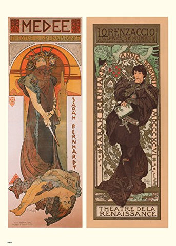 Alphonse Mucha Medee Art nouveau 70x50cm Art Print - On the Wall Art Print Posters & Gifts