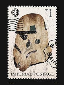 Storm Trooper Star Wars Stamp Poster Art Print (40x30cm) - On the Wall Art Print Posters & Gifts