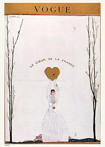 Vintage Vogue Le Coeur De La France - On the Wall Art Print Posters & Gifts