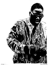 Load image into Gallery viewer, The Notorious B.I.G. Portrait Art Print Poster by Becky Mann (OTW0049) - On the Wall Art Print Posters & Gifts