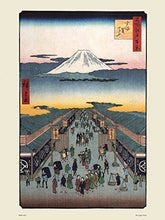 Load image into Gallery viewer, Hiroshige Japanese Poster Art Print Suruga-Cho - On the Wall Art Print Posters & Gifts