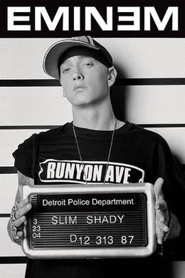 Eminem Mug Shot Regular Poster (61x91.5cm) - On the Wall Art Print Posters & Gifts