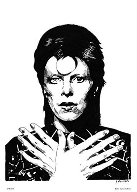 David Bowie by Becky Mann Poster Art Print - On the Wall Art Print Posters & Gifts