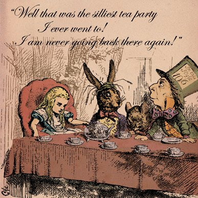 Alice in Wonderland Silliest Tea Party Greetings Card 14x14cm - On the Wall Art Print Posters & Gifts