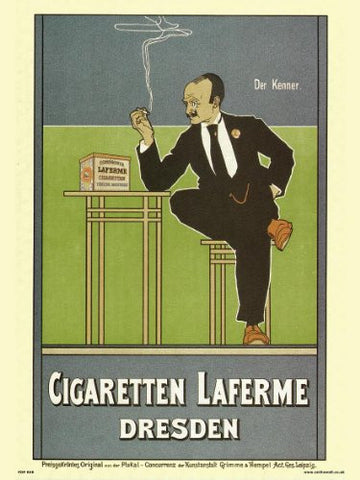 Art nouveau Poster Art Print by Fritz Rehm - Cigaretten Laferme Dresden (PDP 006) - On the Wall Art Print Posters & Gifts