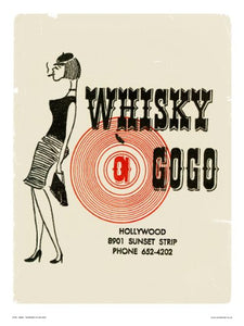 Whiskey a Go Go - Vintage Pop Art Poster Print (OTW056) - On the Wall Art Print Posters & Gifts