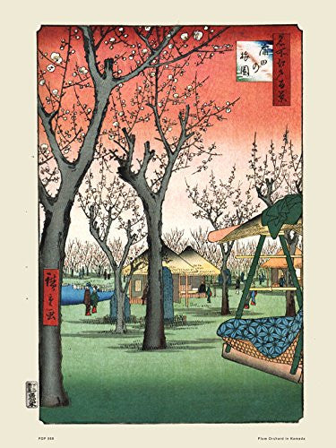 Hiroshige Japanese Poster Art Print Plum Orchardin Kamada - On the Wall Art Print Posters & Gifts