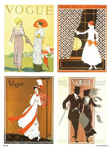 Vogue Vintage Covers Pop Art Poster Print Multi (PDP 024) - On the Wall Art Print Posters & Gifts