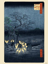 Load image into Gallery viewer, Hiroshige Japanese Poster Art Print foxfire on new year's night under the enoki tree near Oji (PDP 001) - On the Wall Art Print Posters & Gifts