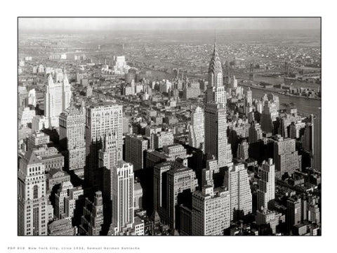 New York City 1932 Photographic Art Print Poster PDP 010 - On the Wall Art Print Posters & Gifts