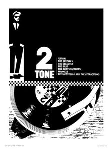 Two Tone, Ska, Specials Pop Art Poster Print by Wig (OTW066) - On the Wall Art Print Posters & Gifts