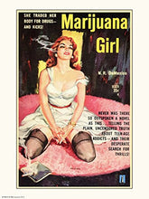 Load image into Gallery viewer, Marijuana Girl - On the Wall Art Print Posters & Gifts