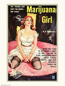 Marijuana Girl - On the Wall Art Print Posters & Gifts