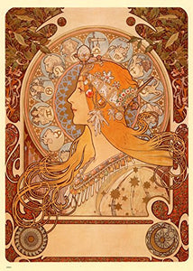 Alphonse Mucha Zodiak Art nouveau 70x50cm Art Print - On the Wall Art Print Posters & Gifts