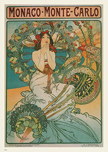 Alphonse Mucha Monaco Art nouveau 70x50cm Art Print - On the Wall Art Print Posters & Gifts