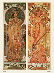 Art nouveau Poster Art Print by Alphonse Mucha Moet - On the Wall Art Print Posters & Gifts
