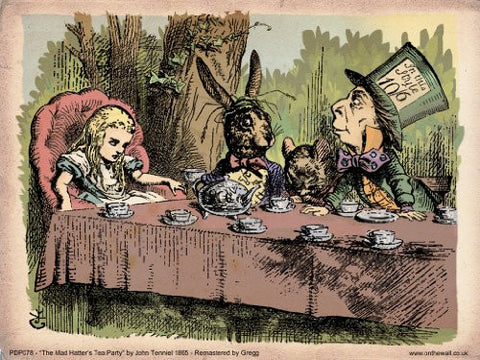Alice in Wonderland Tea Party Vintage Art Print Poster 40x30cm (PDP 078) - On the Wall Art Print Posters & Gifts