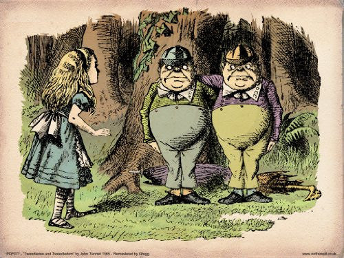 Alice in Wonderland Tweedle Dee Vintage Art Print Poster 40x30cm (PDP 077) - On the Wall Art Print Posters & Gifts