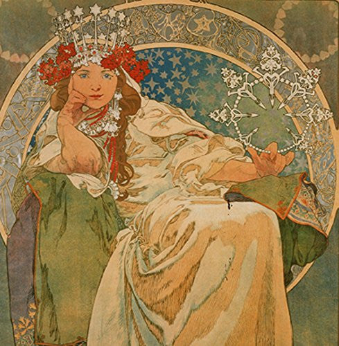 Alphonse Mucha Princess 14x14cm Greetings Card
