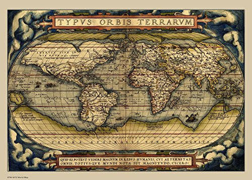 Vintage World Map Poster Art Print - On the Wall Art Print Posters & Gifts