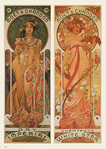 Alphonse Mucha Moet Art nouveau 70x50cm Art Print - On the Wall Art Print Posters & Gifts