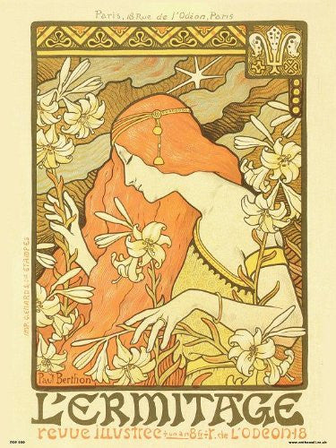 Art nouveau Poster Art Print by Paul Berthon Lermitage (PDP 039) - On the Wall Art Print Posters & Gifts
