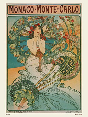 Art nouveau Poster Art Print by Alphonse Mucha Monaco - On the Wall Art Print Posters & Gifts