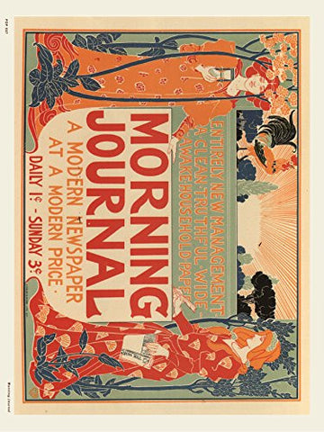 Art nouveau Poster Art Print Morning Journal - On the Wall Art Print Posters & Gifts