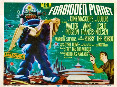 Forbidden Planet Movie Poster Art Print 40x30cm (MSP0001) - On the Wall Art Print Posters & Gifts