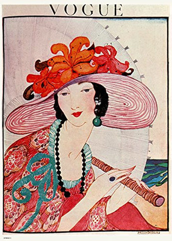 Vintage Vogue Helen Dryden Hat Poster Art Print - On the Wall Art Print Posters & Gifts