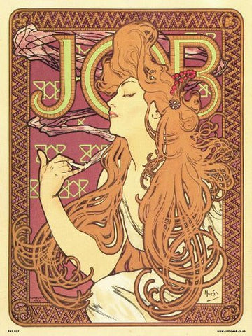 Art nouveau Poster Art Print by Alphonse Mucha - Job (PDP 037) - On the Wall Art Print Posters & Gifts